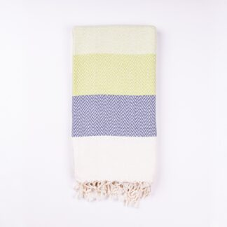Alinda Green Herringbone Peshtemal Throw - Small Cotton Blanket