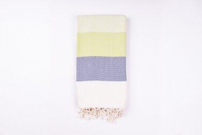 Alinda Green Herringbone Peshtemal Throw - Small Cotton Blanket